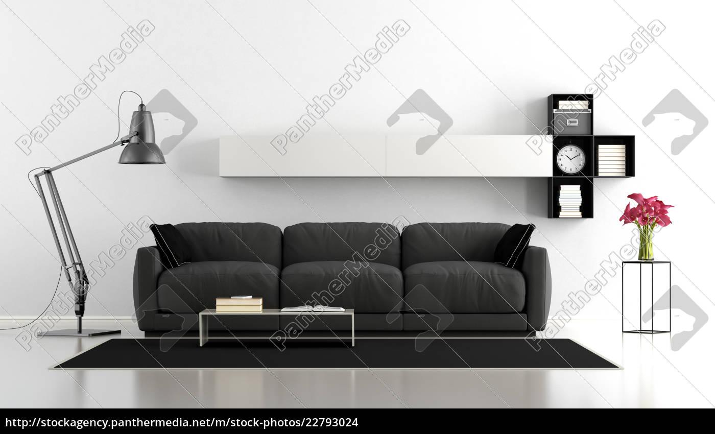 Lizenzfreies Foto 22793024 - schwarz weiß wohnzimmer