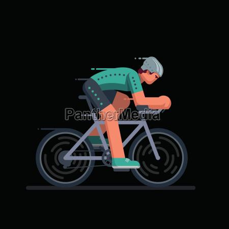 radfahrer im rennradrennen