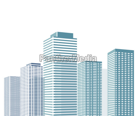 cityscape with skyscrapers illustration