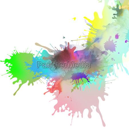 kleckse farben bunt grafik