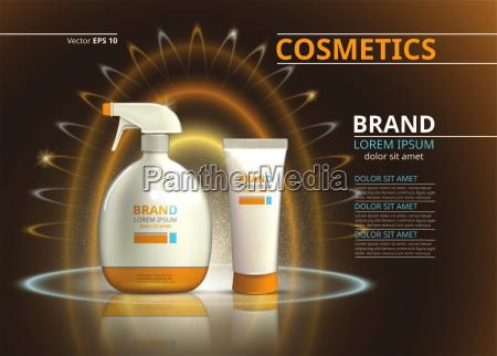 sonnenschutz kosmetik produkt design kosmetikflasche auf