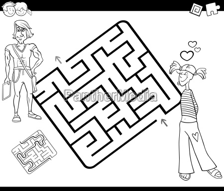maze activity game with young couple