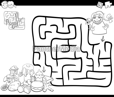 maze activity game with girl and