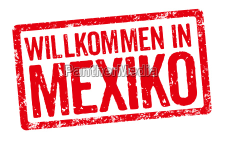 red stamp welcome to mexico