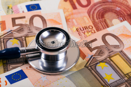 healthcare cost and insurance concept stethoscope
