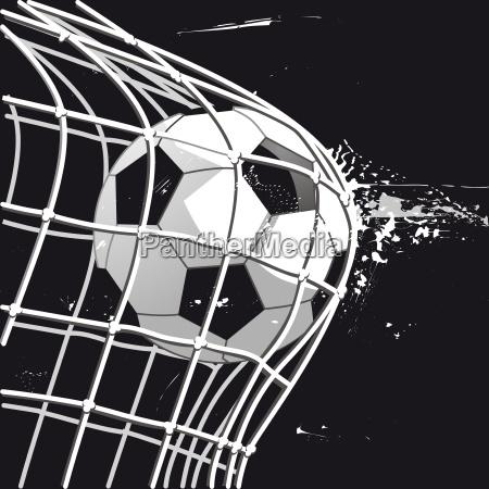 soccer goal shot on goal illustration