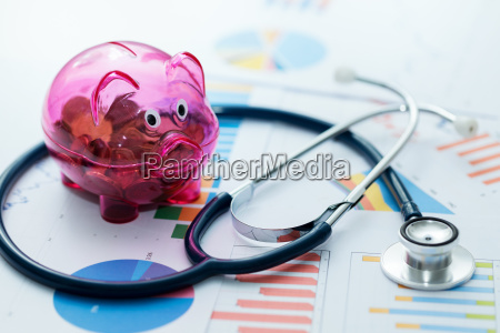 healthcare budget concept stethoscope and