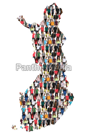 finland map people people people group