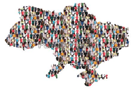 ukraine map people people people group