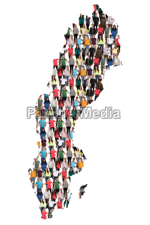 sweden map people people people group