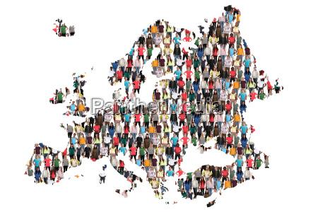 europe map people people people group