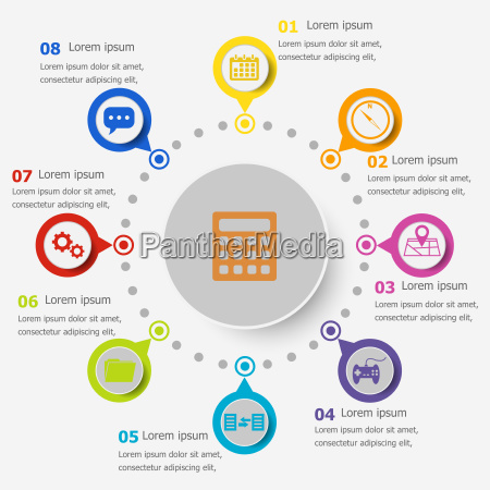 infografikvorlage mit cons
