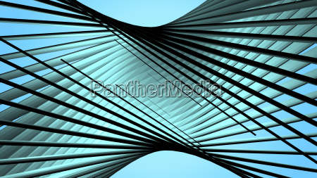 abstract geometric background with twisted lines