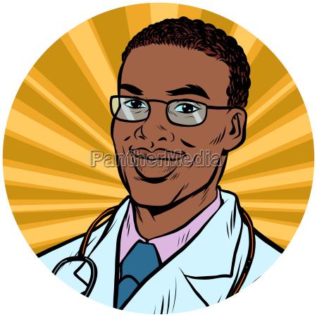 black male doctor african american pop