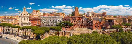 panoramma des alten trajan forums rom
