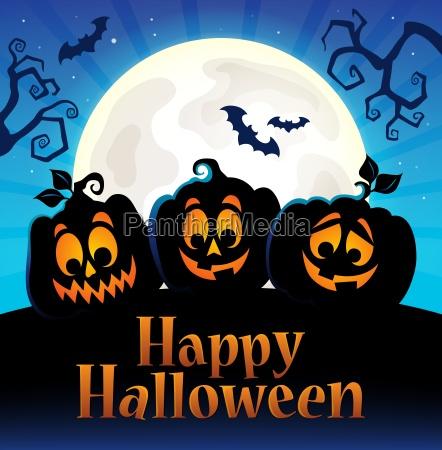 happy halloween zeichen mit kuerbissen 5