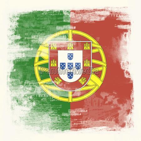 grunge flagge portugal