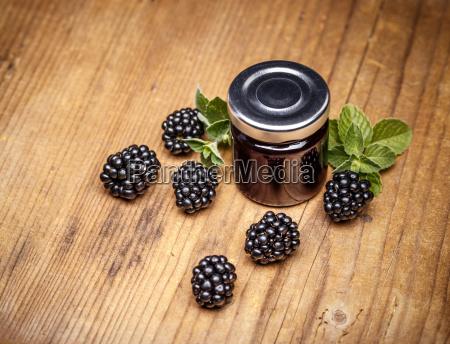 jar of blackberry jam