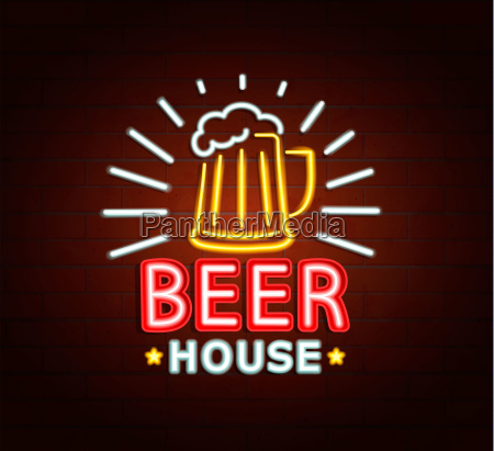 neon sign of beer house