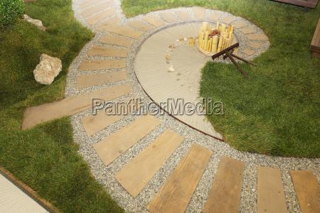 spiral zen garden