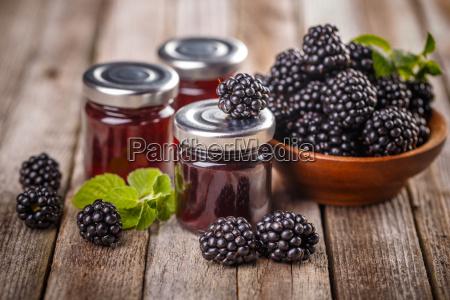 blackberry fruit and jam