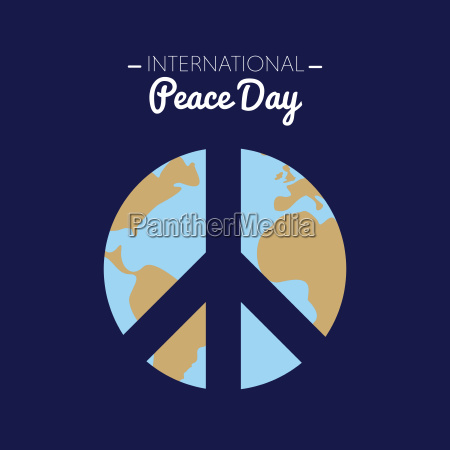 international peace day with the earth