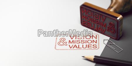 firmenaussage vision mission und werte