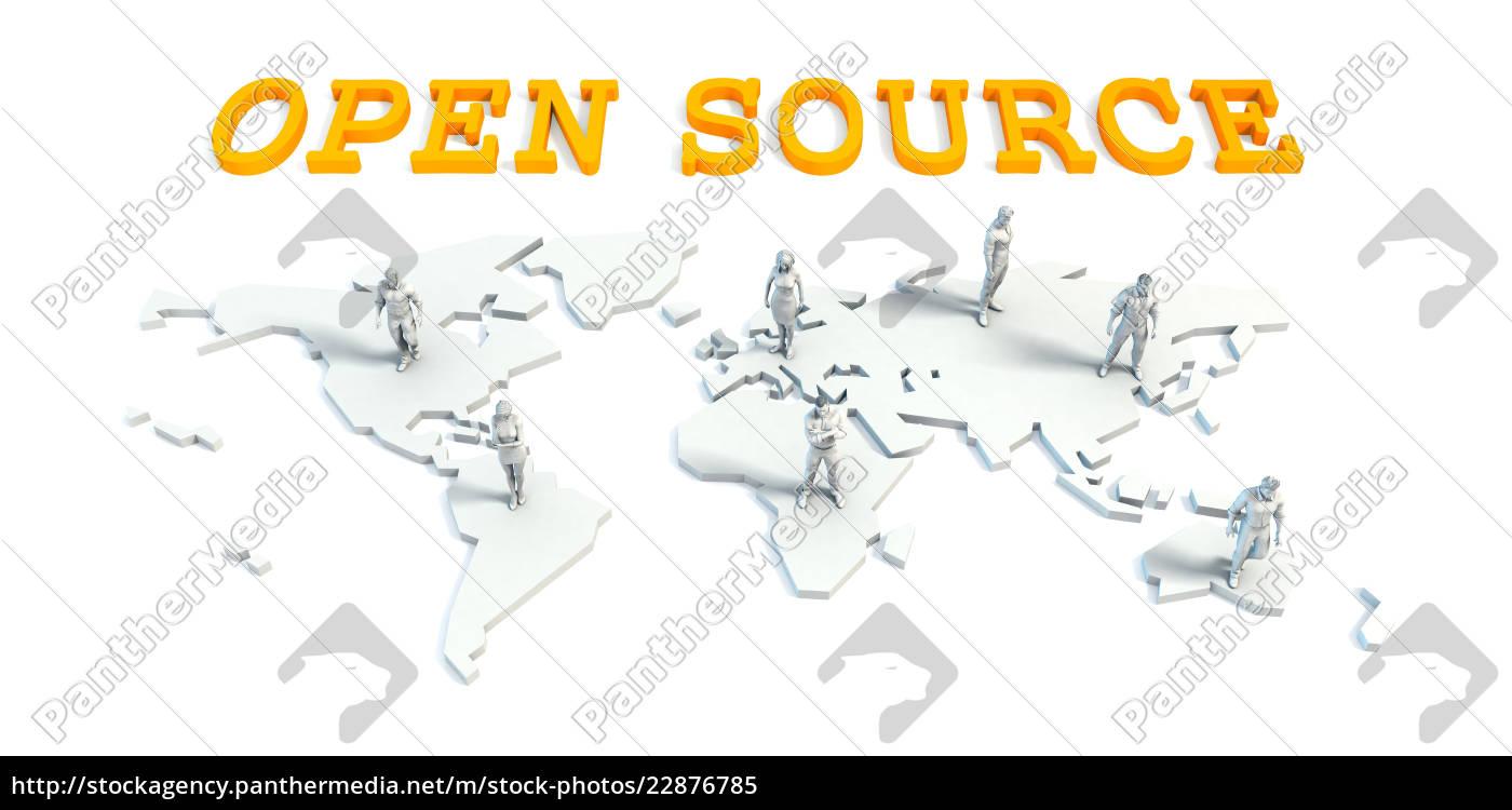 open source konzept mit business team stockfoto. Black Bedroom Furniture Sets. Home Design Ideas