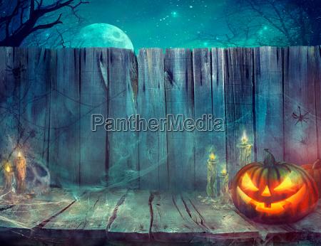 halloween hintergrund mit kuerbis
