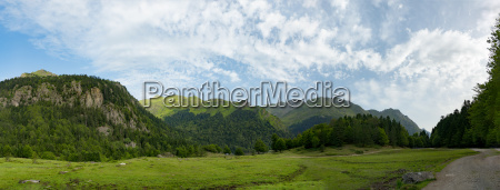 mountain landscape in the french pyrenees