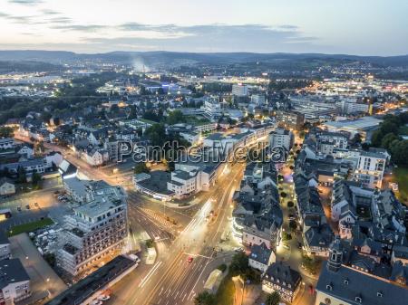 city of wetzlar at night germany