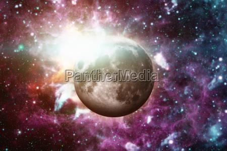 earths moon aussenraum hintergrund