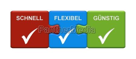 3 puzzle buttons zeigen schnell flexibel