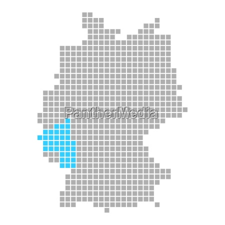 markierung von rheinland pfalz auf karte