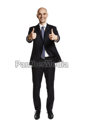 satisfied man thumb up