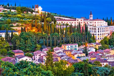 verona city walls and opera don