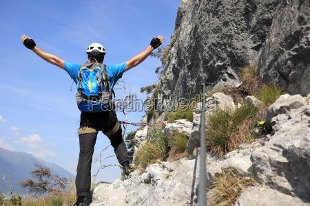 bergsteiger felsenweg