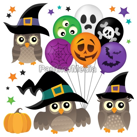 halloween owls thematic collection 1
