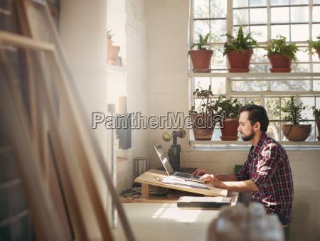 designer working in a creative office