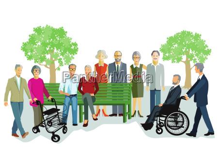 aeltere menschen und senioren