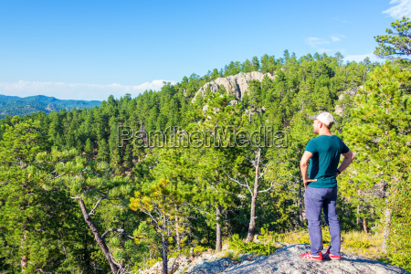 tourist in the black hills