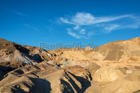dry arid landscape in death valley