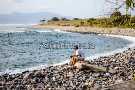 holz tourismus indonesien strand horizontal outdoor