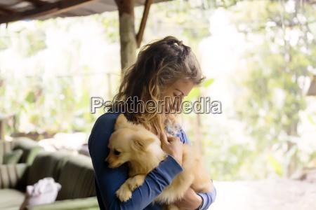 bali indonesien haustiere horizontal hund outdoor