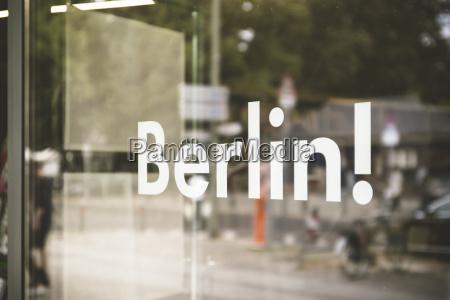 germany berlin window display with the