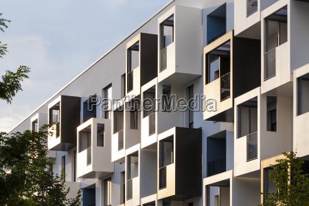 germany heidelberg bahnstadt facade of passive