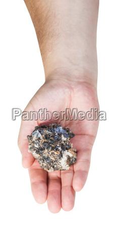 draufsicht auf zink und blei mineralerz