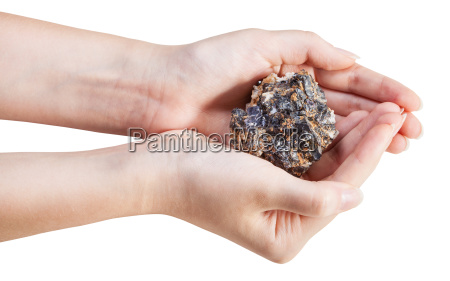 seitenansicht von zink und bleimineralerz in