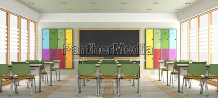 leeren sie modernes klassenzimmer