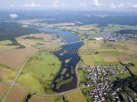 lake aartalsee in hesse germany
